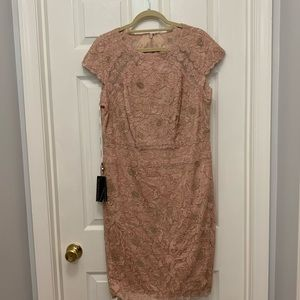 Tadashi Shoji - Dusty Rose Cocktail Dress - New